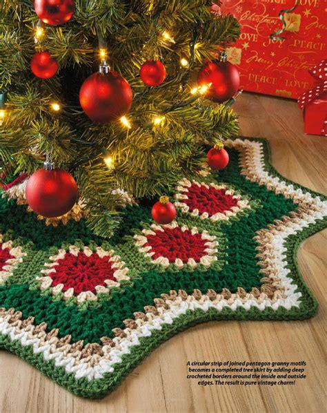 tappeto per albero di natale un tappeto per albero di natale fai da te con i ferri 9