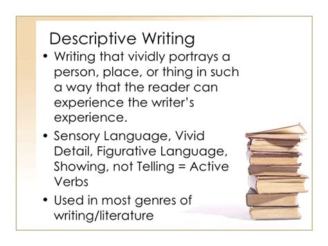 Descriptive And Narrative Essay by Narrative And Descriptive Writing Ppt