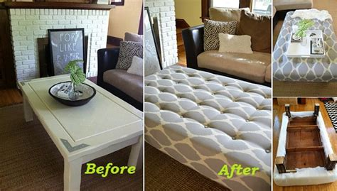 making an ottoman out of a coffee table diy project how to turn a coffee table into an ottoman