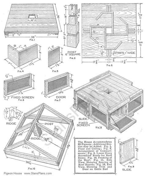 printable plans for a pigeon house plans