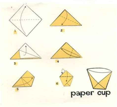 How To Make An Origami Cup - origami cup tutorial origami handmade