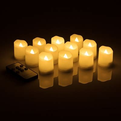 long lasting flameless led battery operated tea lights w