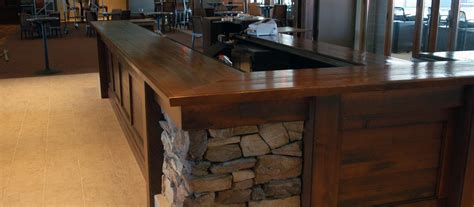 Dark Color Tone Wood Counter Tops, Table Tops and Bar Tops