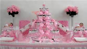 Girls baby shower diaper cake centerpiece gift decoration favor theme