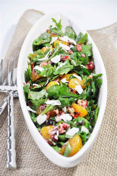 christmas power salad with orange salad dressing veganosity