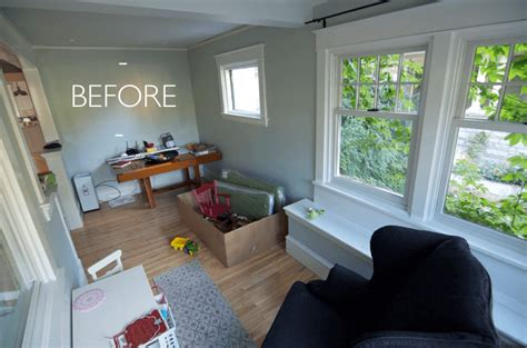 turn living room into bedroom the curbly family sunroom makeover emily henderson