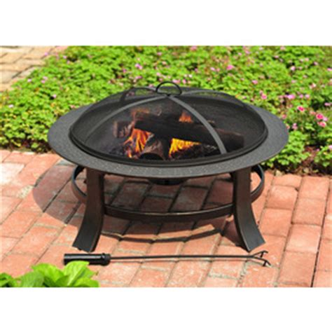 lowes firepit shop garden treasures 30 in matt black steel wood burning