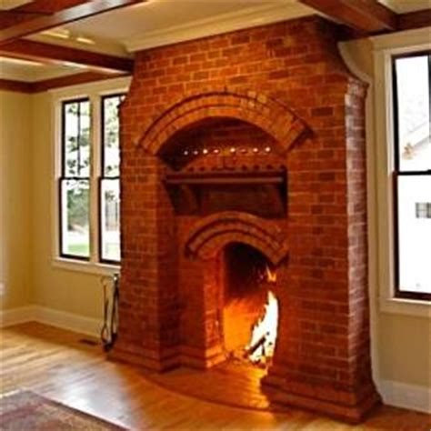 Small Prairie Style House Plans by The Finely Crafted Brick Fireplace Blending Past And