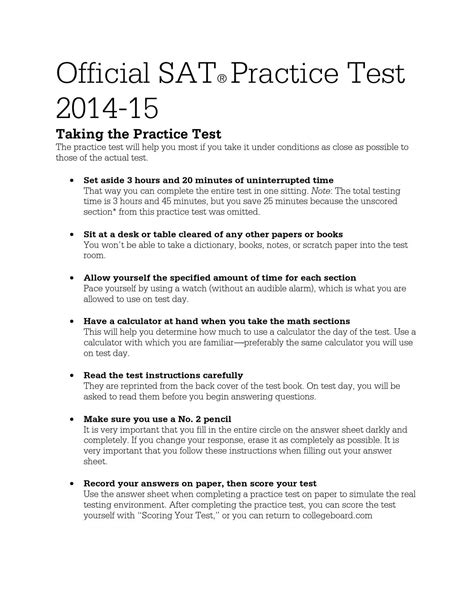 sat unscored section sat practice test by kelly hagerty issuu