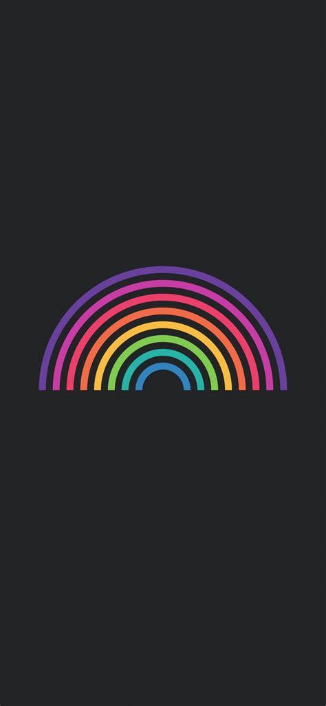 rainbow edge wallpaper iphone  hd wallpaper