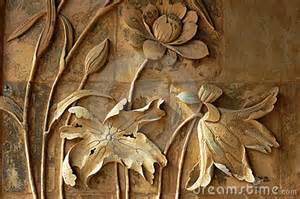Lotus In Ancient Ancient Sculpture Of Lotus Stock Photography Image 13283502