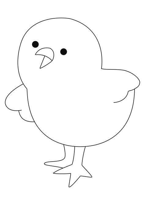 Coloriage - Animaux : Poussin 03 - 10 Doigts