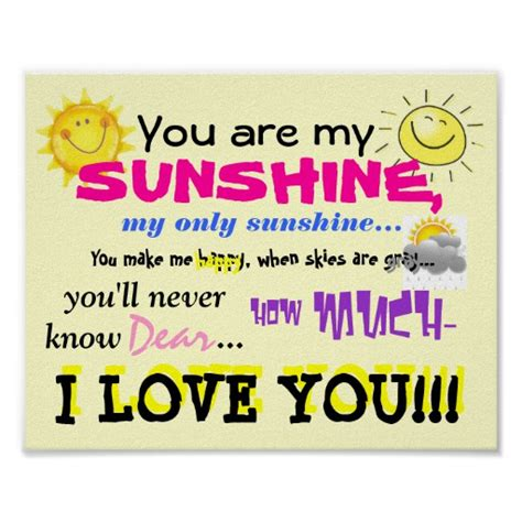 full version you are my sunshine you are my sunshine poster
