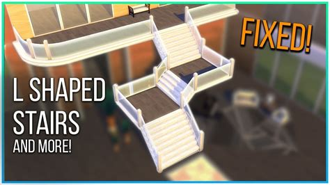 sims  tutorial  shaped spiral stairs  fixed
