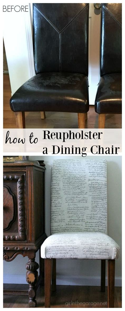 How To Reupholster A Dining by 17 Best Ideas About Dining Chair Redo On