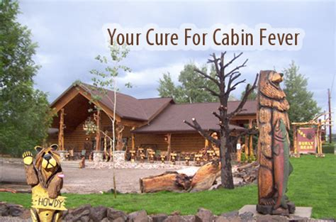 Cure Cabin Fever by Buy Rustic Cabin Decor Bedding Chainsaw Carvings For