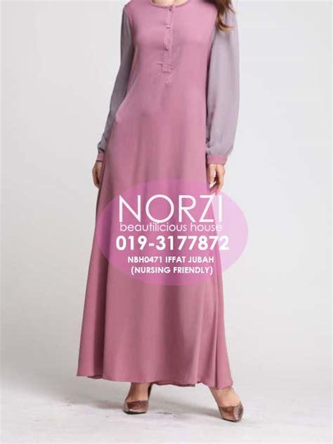 Give Grey Dress Pakaian Baju Dress Wanita Muslimah norzi beautilicious house nbh0471 iffat jubah nursing