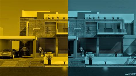 3d front elevation com beautiful contemporary house 3d front elevation com beautiful modern contemporary
