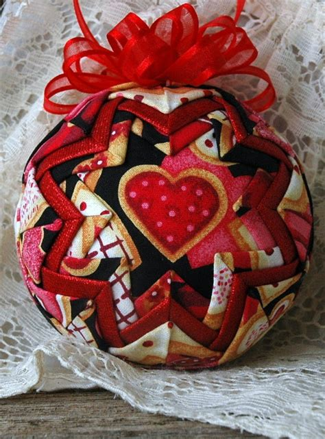 shabby fabrics quilted ornaments crafts