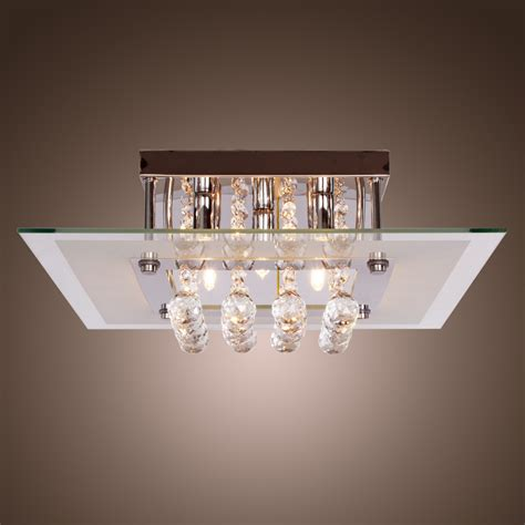 contemporary ceiling light fixtures comtemporary crystal drop flush mount lights with 5 lights
