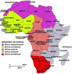 5 regions of africa map world economic development and international cooperation