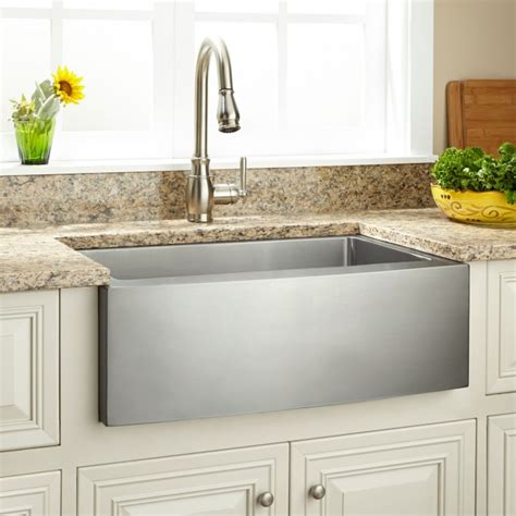 42 inch stainless steel farmhouse sink 42 quot optimum stainless steel farmhouse sink beveled apron