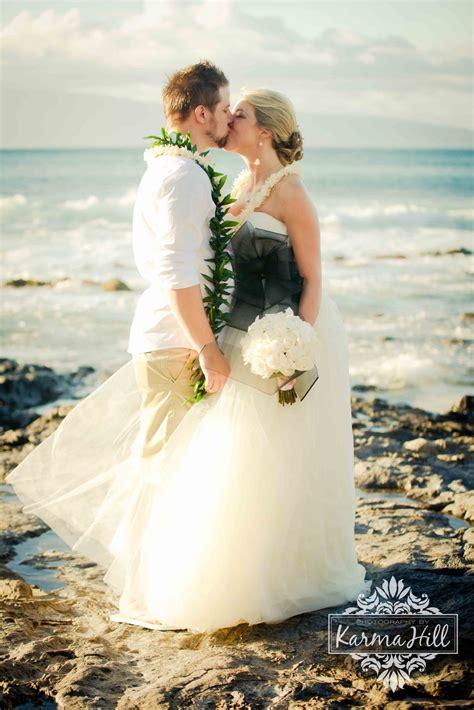 oceanside lava rock wedding hillary chriss maui