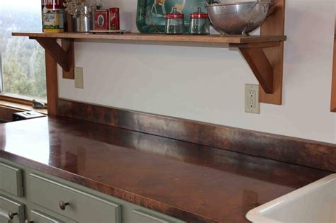 copper kitchen countertop kitchen ideas