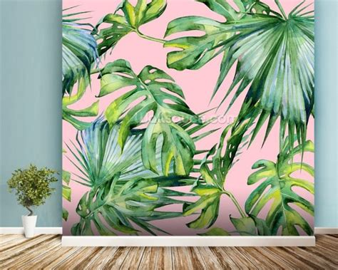 pink jungle wallpaper pink jungle wallpaper wall mural wallsauce usa