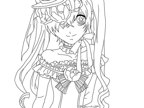 black butler ciel colouring pages coloring page lime art