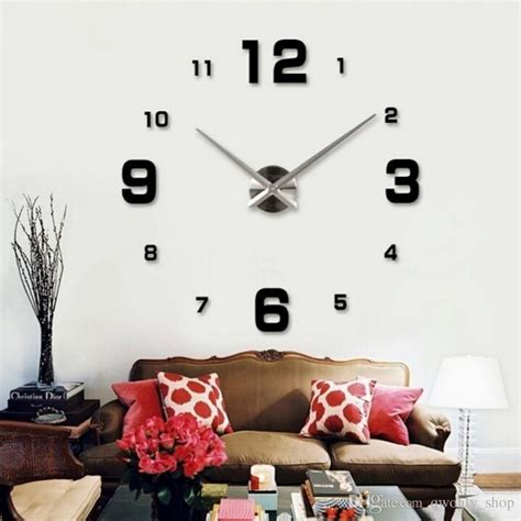How To Decorate Your Livingroom 2017 special large diy quartz 3d wall clock living room