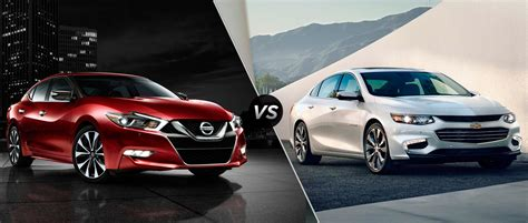 nissan impala the 2016 chevy impala vs the 2016 nissan maxima