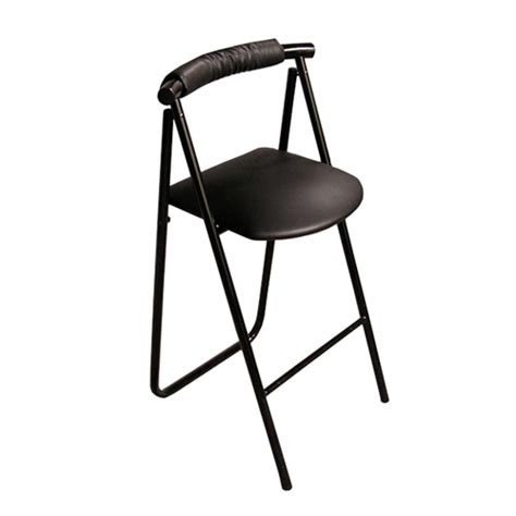 Folding Stools With Back by Pack Stuff Trade Show Stool Portable Folding Curve Back