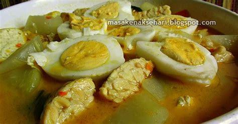 resep sayur buah pepaya muda telur tempe kuah santan