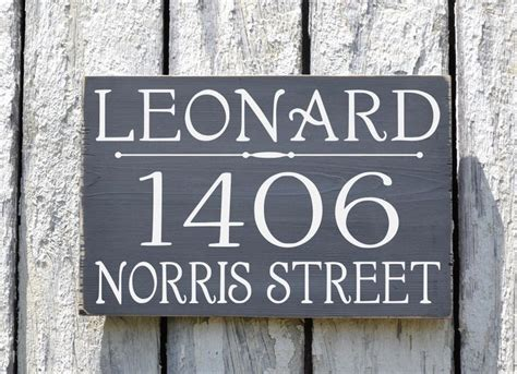 hanging address plaques for l post custom address plaque large personalized numbers house