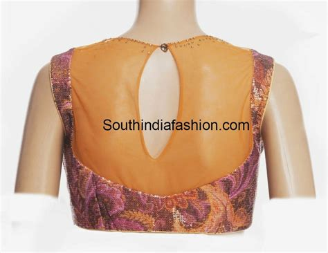 boat neck net blouse boat neck sequins blouse south india fashion