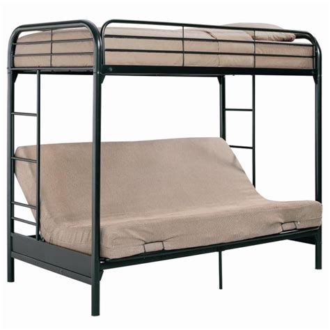 twin over futon bunk bed dhp barwick twin over futon bunk bed black at hayneedle