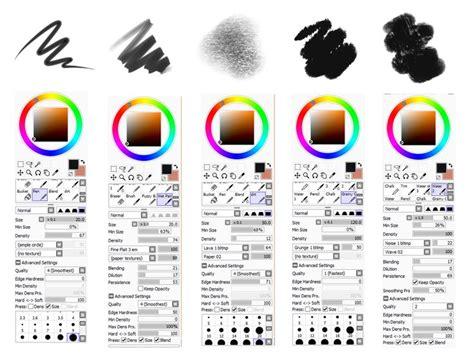 paint tool sai bẠn 82 best eptsai brush settings elemap brushtex blotmap