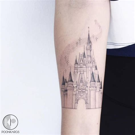 disney castle tattoo disney castle on the right inner forearm inner