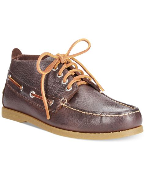sperry top sider boots sperry top sider a o boardwalk chukka boots in brown for