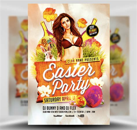 easter flyer template easter flyer template flyerheroes