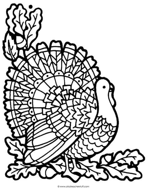 thanksgiving coloring pages advanced turkey coloring page a to z teacher stuff printable