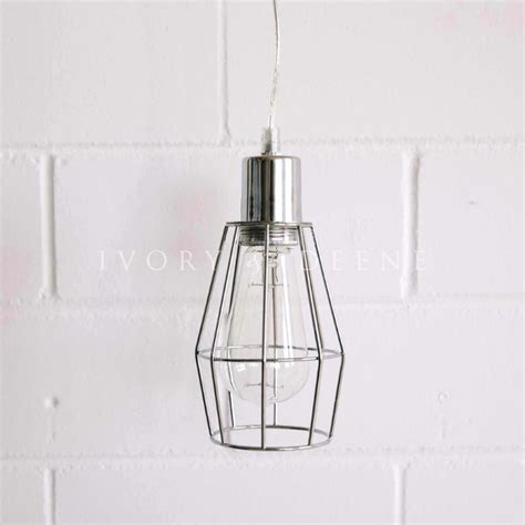 metal cage pendant light industrial metal chrome cage light pendant small buy