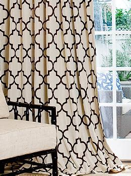brown trellis curtains living room