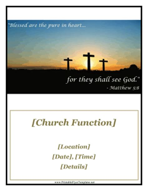 Church Function Flyer Free Printable Church Event Flyer Templates