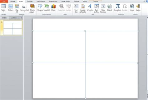 powerpoint layout blank how to make an impressive quad chart in powerpoint 2010
