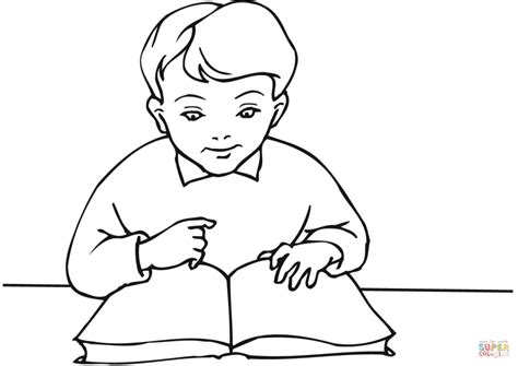 reading coloring pages printable school boy reading a book coloring page free printable