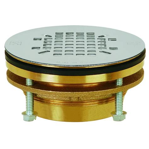 sioux chief shower drain installation sioux chief jackrabbit 2 in brass compression bolt shower drain with 4 1 4 in strainer
