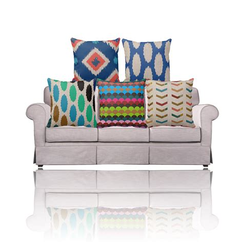 chevron couch cover purple pink yellow ikat cushion covers for couch sofa