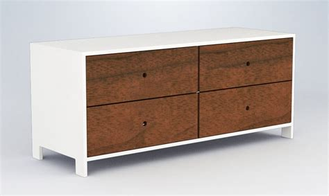 Low Dresser With Drawers by 4 Drawer Low Dresser By Ducduc Rosenberryrooms